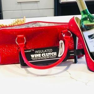 Handbags - Insulated wine / beverage clutch with corkscrew
